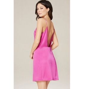 Bebe Sara mini silk slip dress